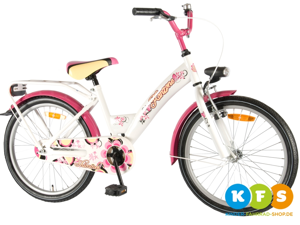 kinder m dchen fahrrad 20 zoll ab 6 jahre mit r cktritt bremse batterie licht ebay. Black Bedroom Furniture Sets. Home Design Ideas